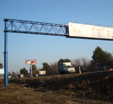 Advertising Over-Road Steel Structures